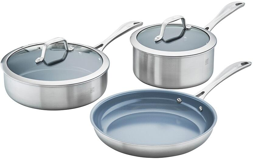 ZWILLING Spirit 3-ply 5-pc Stainless Steel Ceramic ...