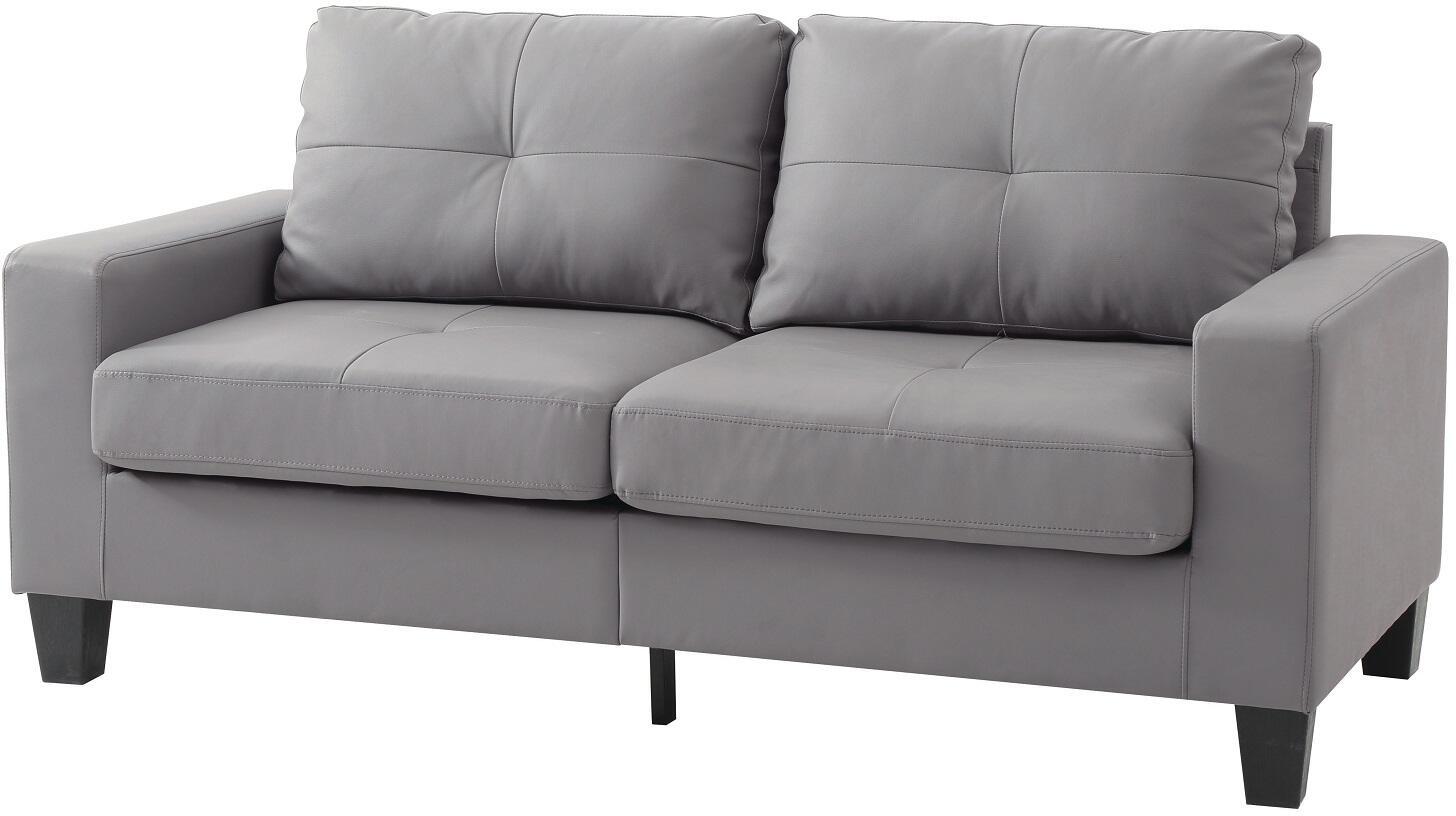 630c3b9d5196 Glory Furniture Newbury Faux Leather Sofa G461AS Grey | Appliances ...