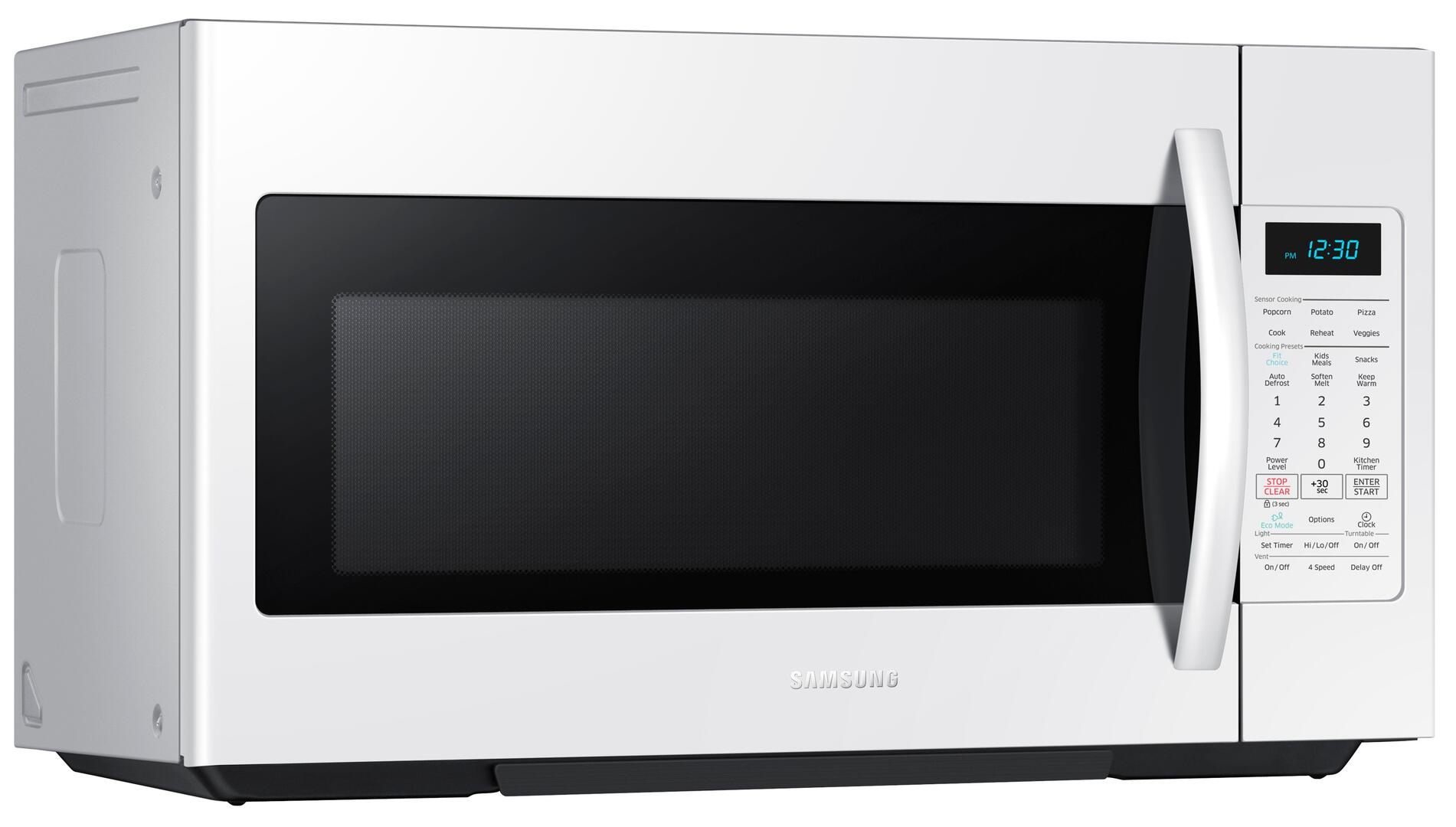 Samsung Me18h704sfw 1 8 Cu Ft White Over The Range