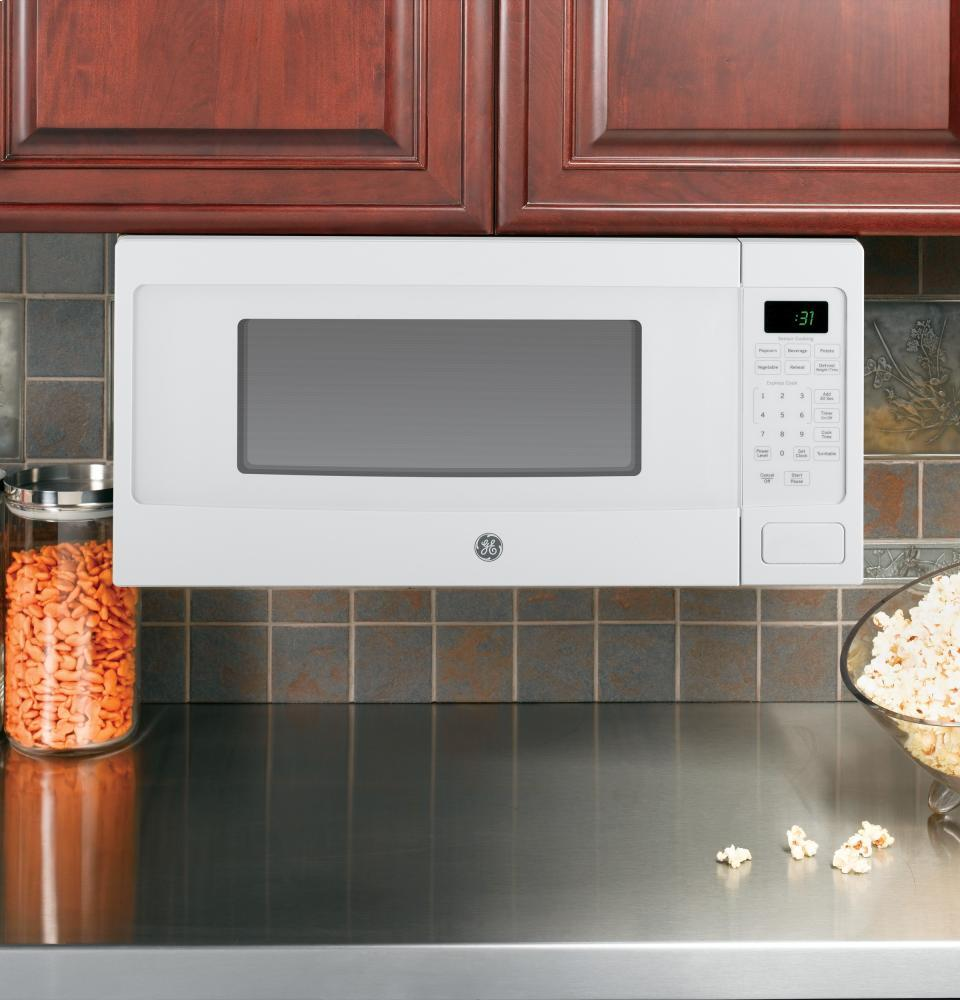 Ge Profile Pem31dfww 24 Inch White Countertop Microwave
