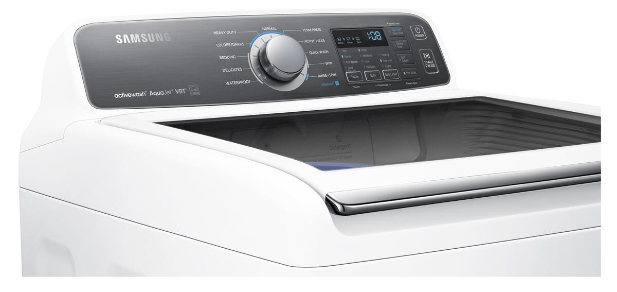 Samsung Wa48j7700aw 27 Inch 4 8 Cu Ft Top Load Washer