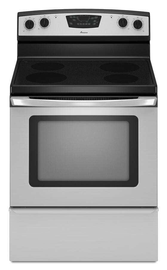 Amana Draft Down Cooktops ~ Amana aer xas inch electric freestanding range with