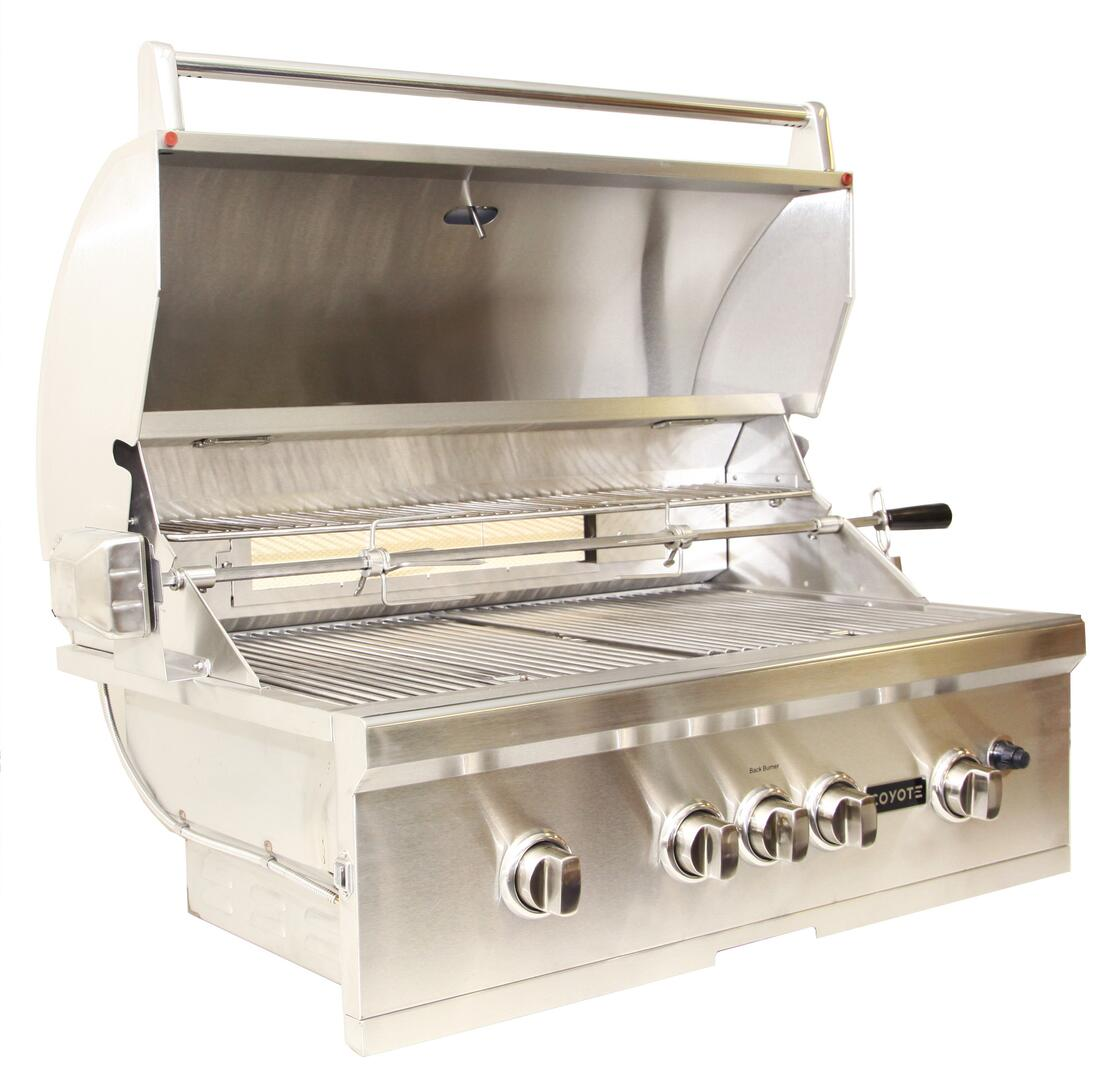 Coyote csl36lp 36 inch built in grill in stainless steel for Coyote outdoor grill reviews