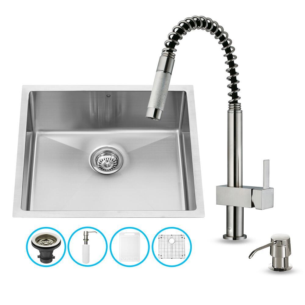 Vigo VG15221 Stainless Steel Kitchen Sink | Appliances Connection