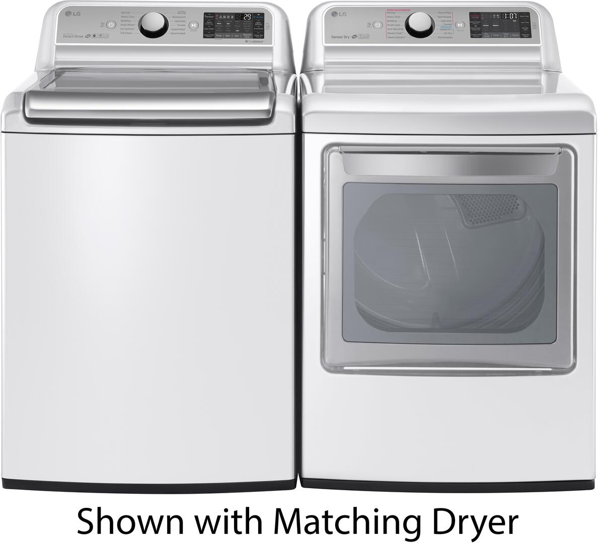 Lg Wt7500cw 27 Inch White 5 2 Cu Ft Top Load Washer