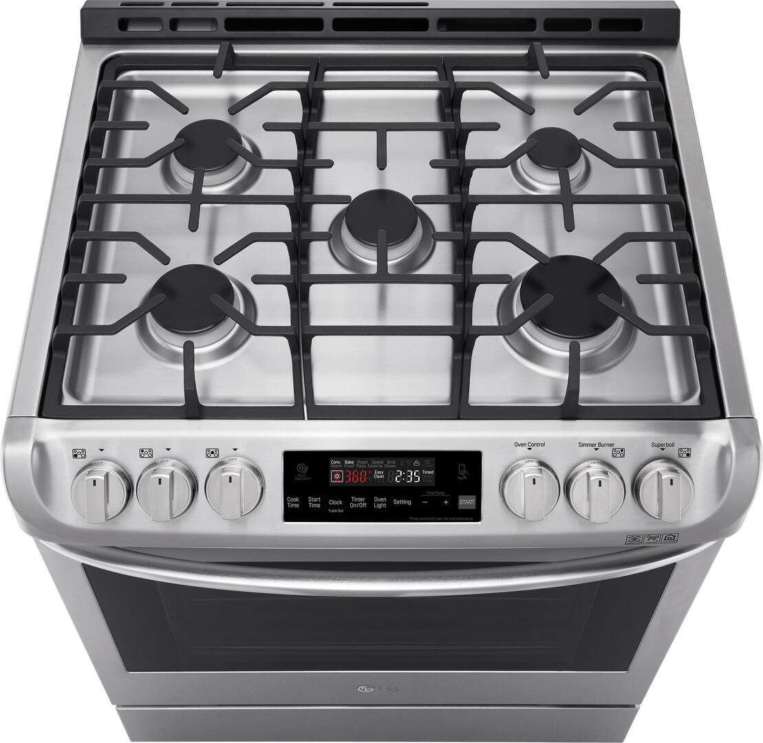 Kitchen gas stove top view -  Lg Top View