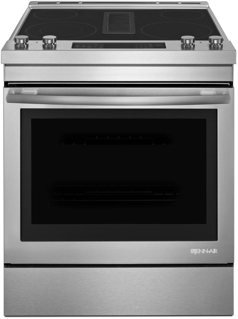 jenn air jes1750fs 30 inch stainless steel slide in electric range with smoothtop cooktop 6 4. Black Bedroom Furniture Sets. Home Design Ideas