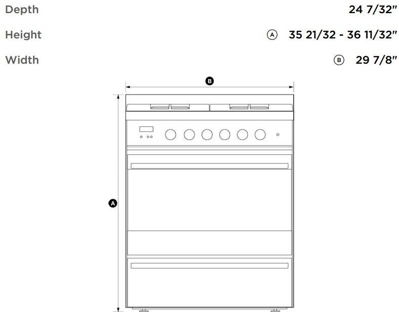 fisher paykel or30sdbmx1 30 gas standing appliances connection fisher paykel dimensions diagram