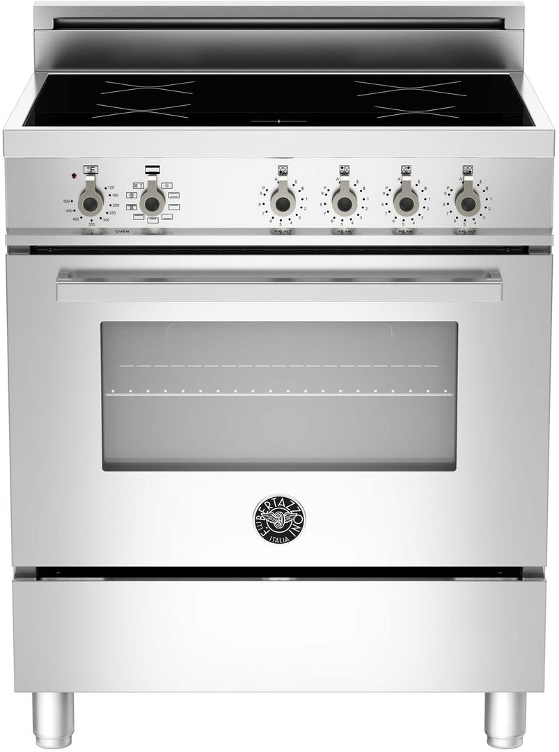 bertazzoni pro304inmxe 30 inch professional series electric freestanding range with smoothtop. Black Bedroom Furniture Sets. Home Design Ideas