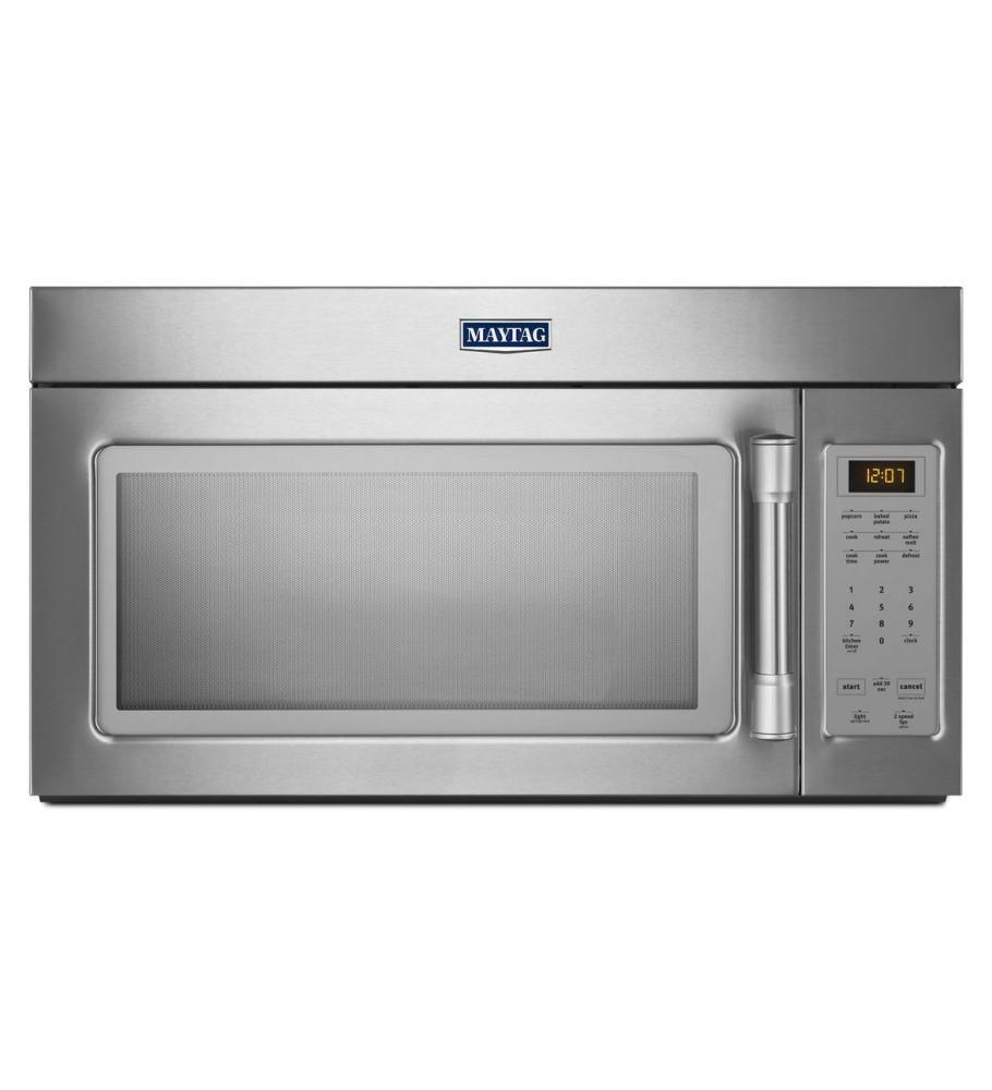 Maytag Mmv1174ds 1 7 Cu Ft Over The Range Microwave Oven