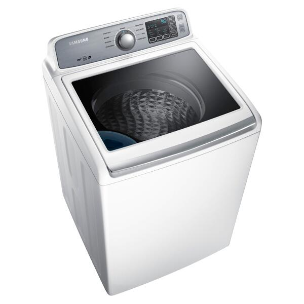 Samsung WA45H7000AW 27 Inch 4.5 cu. ft. Top Load Washer, in White   Appliances Connection