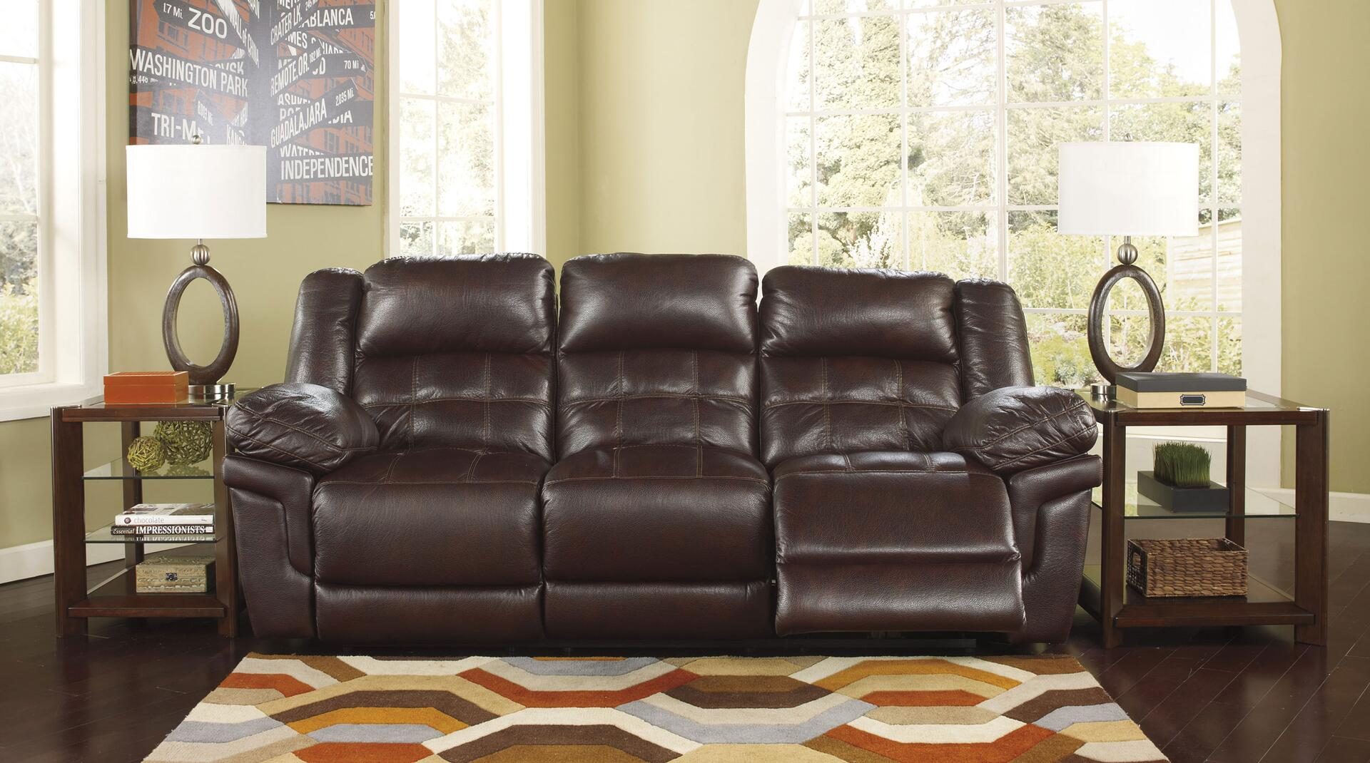 Benchcraft 2590288 Randon Series Reclining Faux Leather