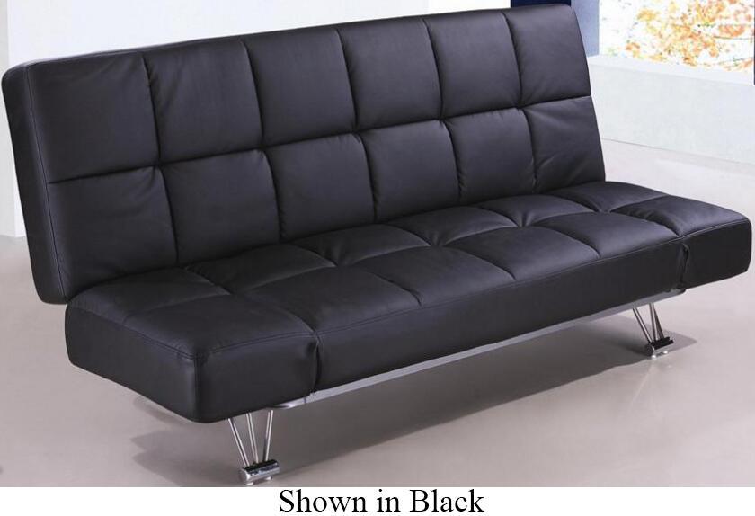 J And M Furniture Venuswht Convertible Vinyl Sofa Appliances Connection