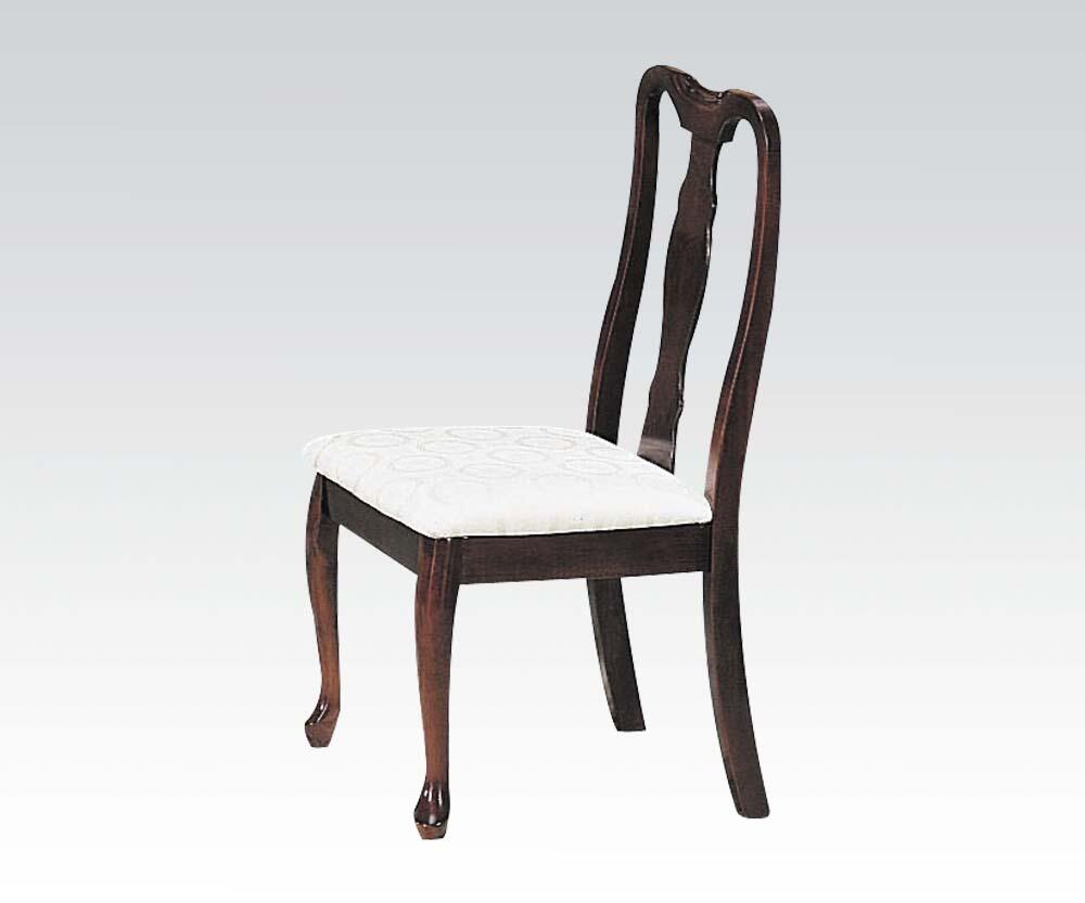 Acme Furniture 02627h Queen Ann Series Traditional Fabric Wood Frame Dining Room Chair