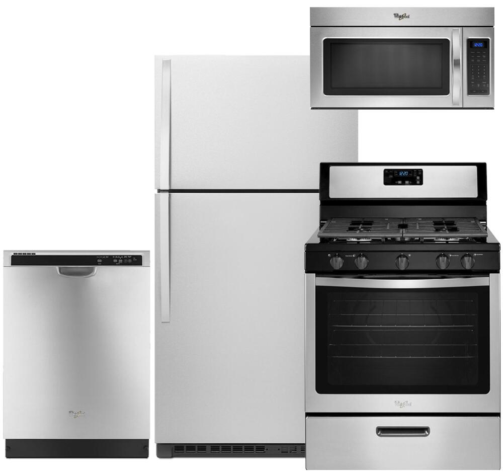 Whirlpool WH4PCFSTF30GFCSSKIT1 Kitchen Appliance Packages