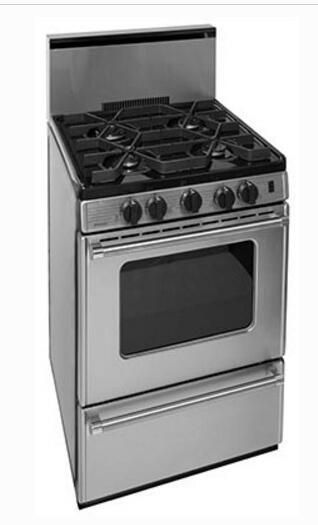 Premier P24s3202ps Pro Series 24 Inch Stainless Steel Gas Freestanding Range