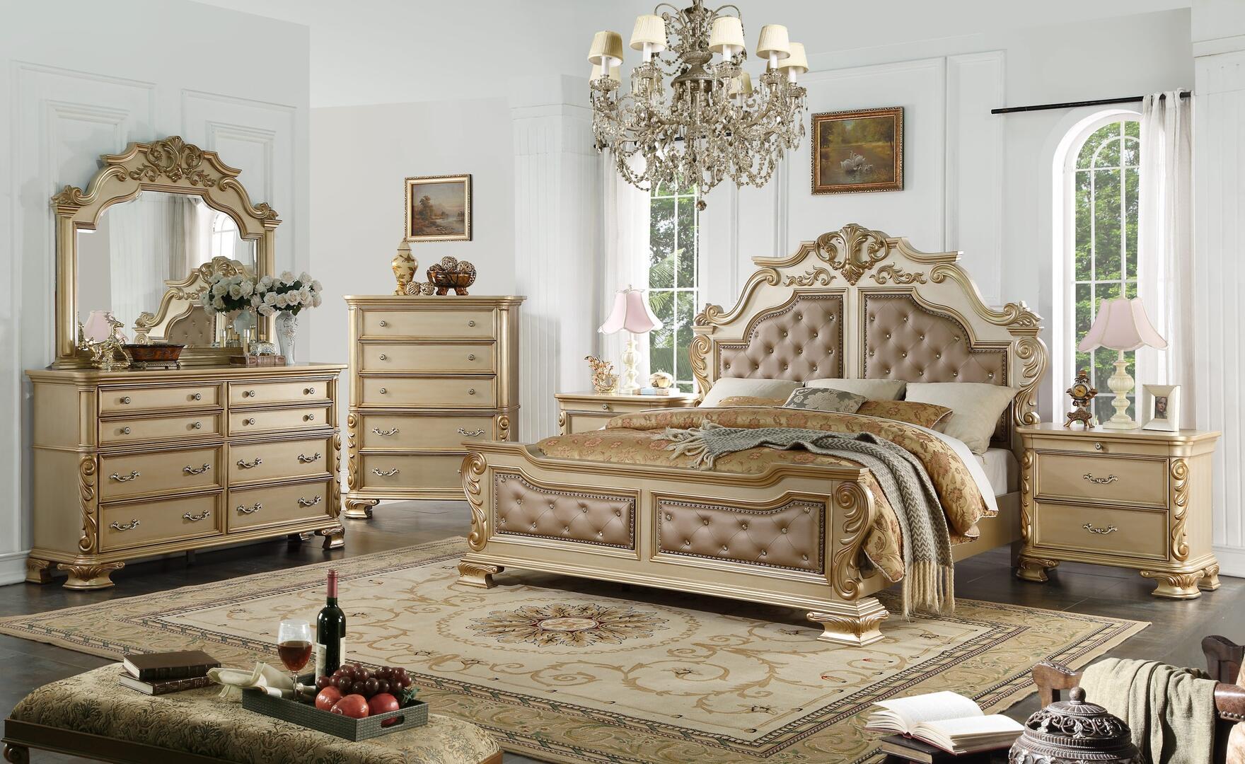 Cosmos Furniture Miranda 6 Piece King Size Bedroom Set