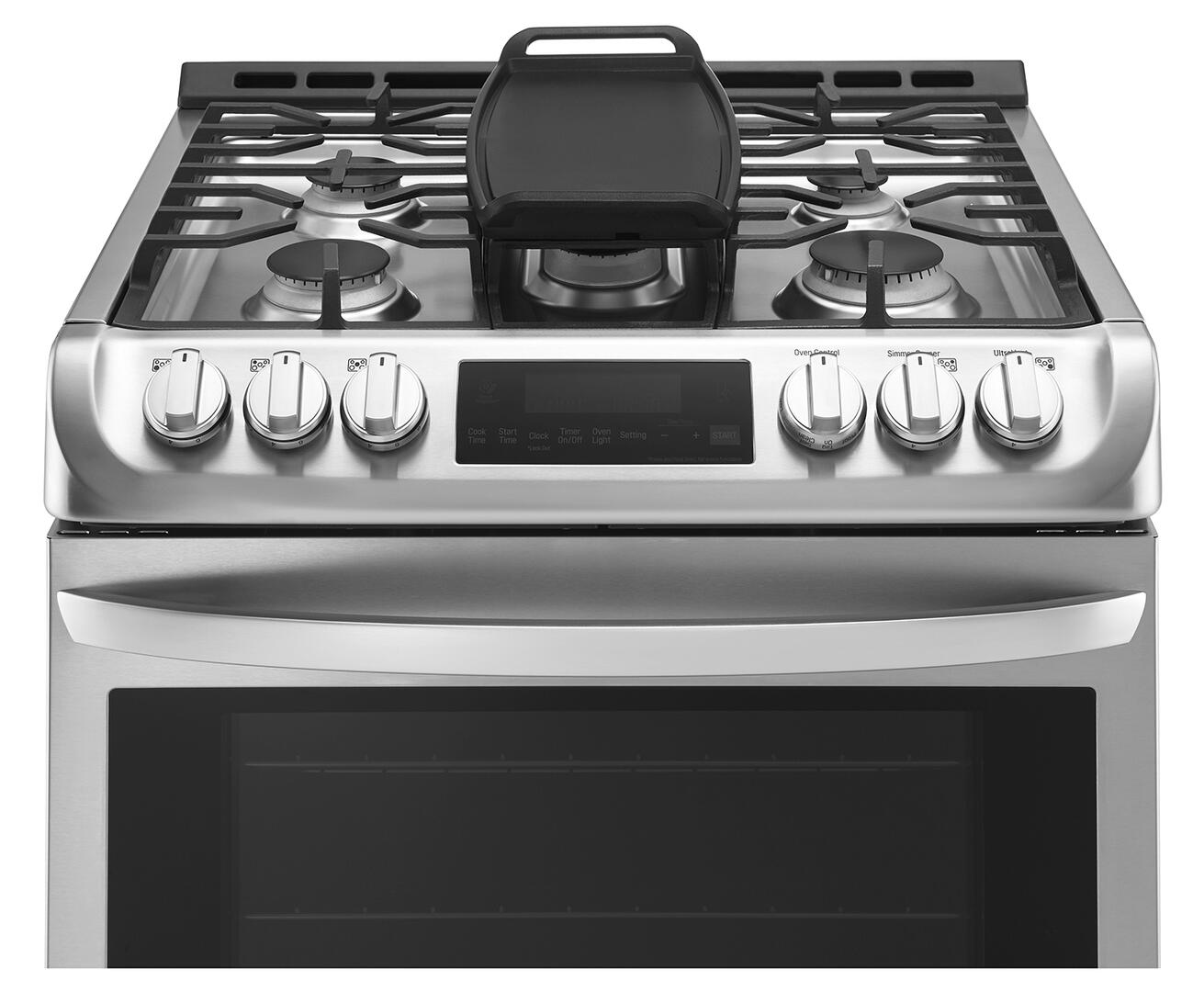 Kitchen gas stove top view -  Lg Alternate View Lg Cooktop With Griddle Lg Top