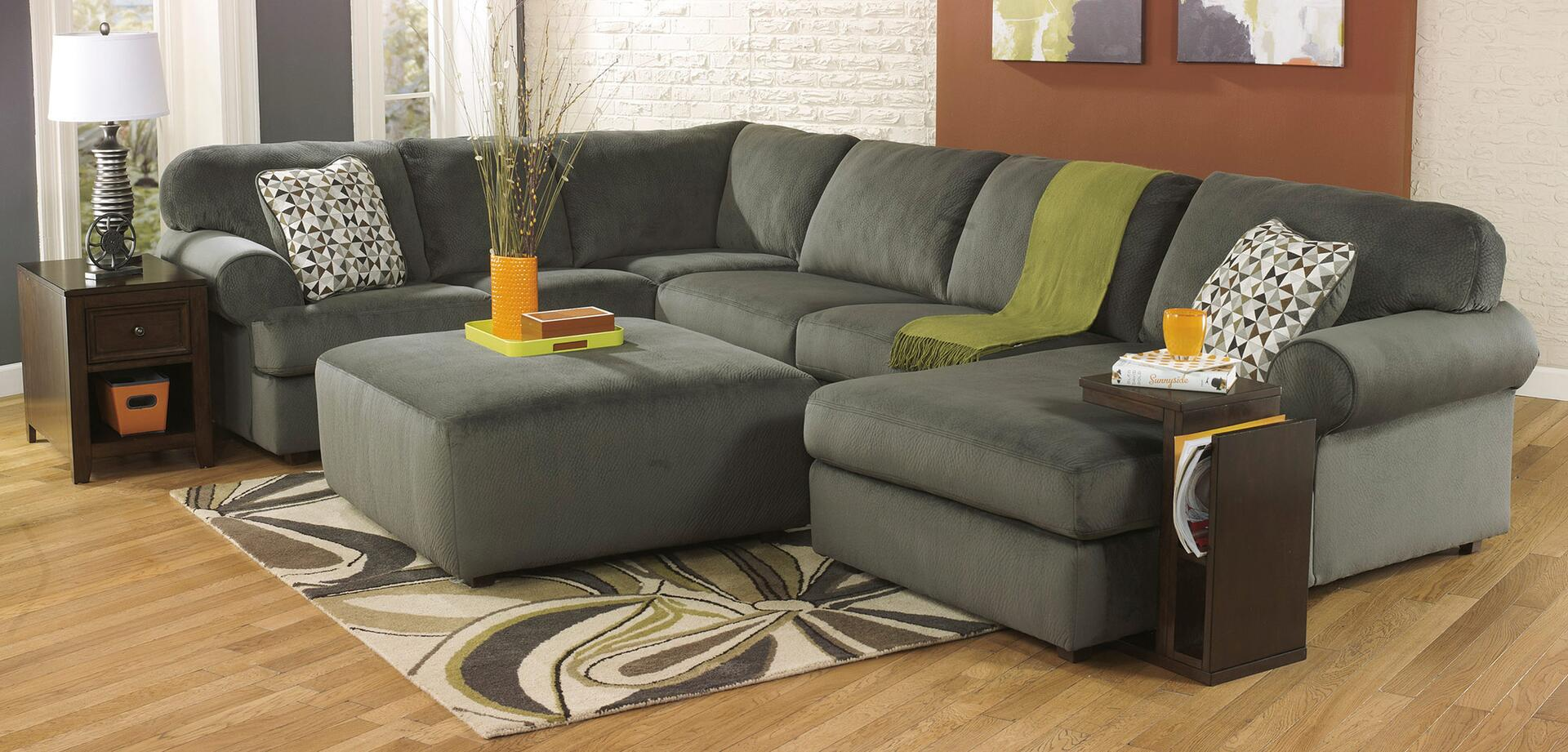 ... Signature Design by Ashley Jessa Place Sectional Sofa with Optional Ottoman and Accessories ... : jessa place sectional pewter - Sectionals, Sofas & Couches