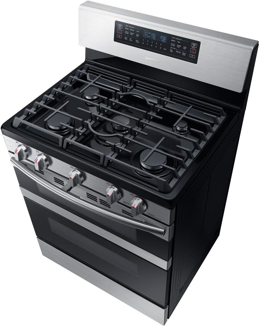 Kitchen gas stove top view -  Samsung Top View