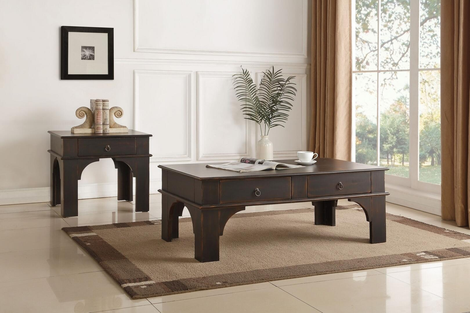 Acme furniture elvira coffee and end table set