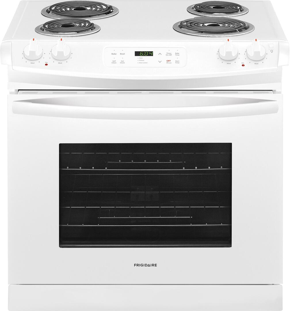 frigidaire ffed3016tw 30 inch drop in electric range with coil element cooktop 4 6 cu ft. Black Bedroom Furniture Sets. Home Design Ideas