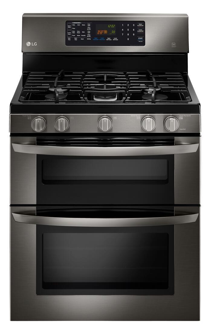 Gas Range Installation Service : Lg black stainless steel freestanding gas range
