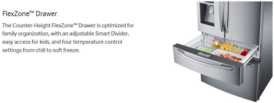 Samsung Rf25hmedbww 33 Inch French Door Refrigerator With