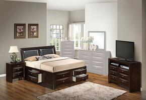 G1525IKSB4NTV2 3 Piece set including  King  Size Bed, Nightstand and Media Chest  in Cappuccino