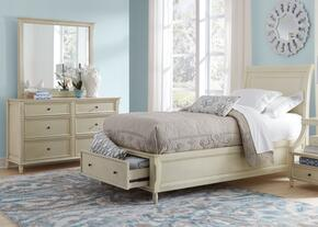Avignon Youth Collection 1617FPBDM 3-Piece Bedroom Set with Full Storage Bed, Dresser and Mirror in Ivory