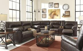 Barrettsville Durablend 47301SSRP 2-Piece Living Room Set with Power Sectional Sofa and Recliner in Chocolate