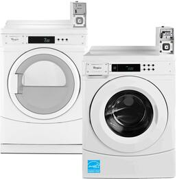 White Commercial Laundry Pair with CHW9050AW 27