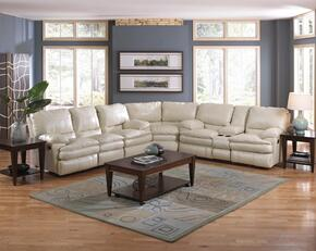 Perez Collection 4141-8-9-1262-01/3062-01 3-Piece Sectional with Reclining Sofa, Wedge and Reclining Loveseat in Ice