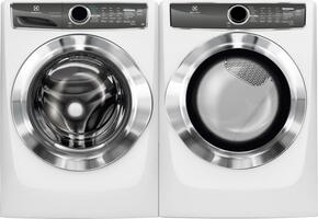 White Front Load Laundry Pair with EFLS617SIW 27