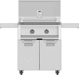 "30"" Liquid Propane Grill with ECD30SS Tower Grill Cart with Two Doors, in Steeletto Stainless Steel"