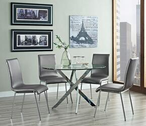 "Putnam 205-413M1 30"" 5-Piece Dining Room Set with Round Table Dining Table and 4 Side Chairs"