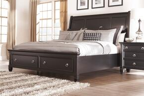 Greensburg King Bedroom Set with Storage Bed and Nightstand in Black