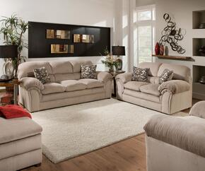 Harper 6150-03020109 4 Piece Set including Sofa, Loveseat, Chair and Ottoman with Fabric Upholstery in Cocoa