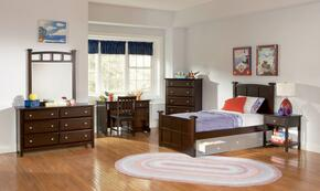 400751TSET6 Jasper 6 Pc Twin Bedroom Set in Cappuccino Finish (Bed, 2x Nightstand, Dresser, Mirror, and Chest)