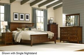 Westlake WSLCB5036 6-Piece Bedroom Set with Queen Panel Bed, Dresser, Mirror, 2 Nightstands and Chest in Cherry Brown Finish