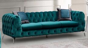Cosmos Furniture AIDENSOFAGREENVELVET
