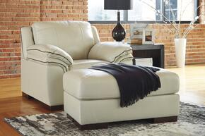 Caiden Collection MI-3805CO-VANI 2 PC Living Room Set with Armchair + Ottoman in Vanilla Color