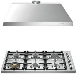 "2-Piece Stainless Steel Kitchen Package with DB36600X 36"" Gas Cooktop and KU36PRO1X14 36"" Canopy Hood"