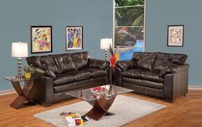 Hayley 50355SLT 5 PC Living Room Set with Sofa + Loveseat + Coffee Table + 2 End Tables in Premier Chocolate Color