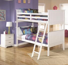Lulu Twin Bedroom Set with Bunk Bed and Nightstand in White