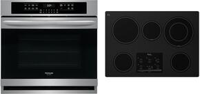 "Gallery Series 2 Piece Kitchen Package With G9CE3065XB 30"" Electric Cooktop and FGEW3065PF 30"" Electric Single Wall Oven In Stainless Steel"