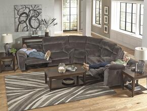 Nichols Collection 1671-8-9-2370-28 3-Piece Sectional with Reclining Sofa, Corner Wedge and Reclining Loveseat in Granite