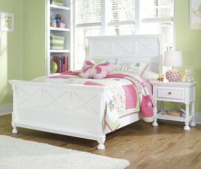 Kaslyn Full Bedroom Set with Panel Bed and Nightstand in White
