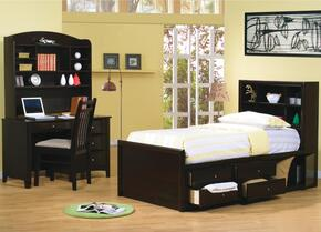 Phoenix Collection 400180FSET 4 PC Bedroom Set with Full Size Storage Bed + Computer Desk + Hutch + Chair in Cappuccino Finish