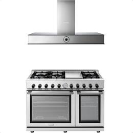 2-Piece Stainless Steel Kitchen Package with RN482GPSS 48